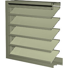 Model K6776 Extruded Aluminum Drainable Louvers